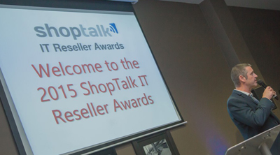 Paul Cubbage presents ShopTalk National IT Reseller Awards
